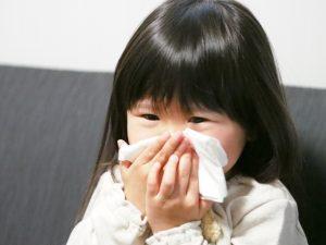 子供が花粉症で鼻水ズルズル