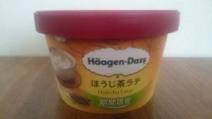 ハーゲンダッツほうじ茶ラテ味横から